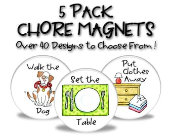 Chore Magnets - 5 Pack