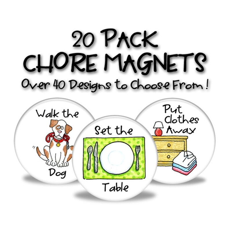 Chore Magnets  20 Pack image 0