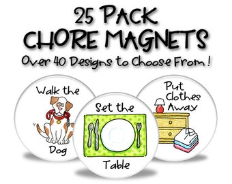 Chore Magnets - 25 Pack