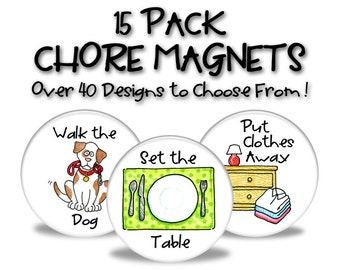Chore Magnets - 15 Pack