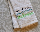 Personalized Swimmer Bath Towel ST0027  // Swimmer Gift // Swimming // Team Gift // Swim Gift // Swim Coach Gift //