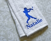 Personalized Softball Batter Towel #3 ST0153 // Softball Gifts // Team Gift // Player // Coach Gift