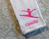 Personalized Dancer Towel #2 ST006 //Dance Gifts // Dance Teacher Gifts // Dancer // Coach // Mom Gift