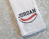 Personalized Baseball Player Towel 2 STB2 // Baseball Gifts // Baseball Coach's Gift // Baseball Mom Gift //