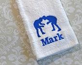 Personalized Wrestling Towel ST029 // Wrestling Gifts // Wrestler //