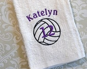 Personalized Volleyball Player Towel ST0019 // Volleyball Gifts // Volleyball Coach Gift // Team Gift // Player