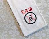 Personalized Baseball Towel ST001 // Baseball Gifts // Coach Gift // Mom Gift // Team Gift // Player // Monogrammed