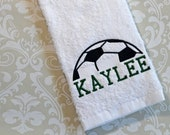 Personalized Soccer Team Towel #2 STS2  // Soccer Coach Gifts // Soccer Gifts // Soccer Mom