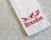Personalized Triathlon Towel ST0028 //Triathlon Gifts // Triathlon Coach Gift