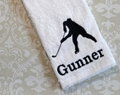 Personalized Hockey Player Towel #2 STH2 // Hockey Gifts // Team Gift // Coach Gift // Mom Gift // Player Gift