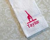 Personalized Gymnastic Towel #3 ST011  // Gymnastics Gift // Gymnastics // Balance Beam // Gymnast