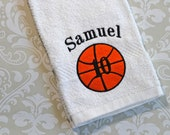 Personalized Basketball Player Towel ST002 // Basketball Gifts // Team Gift