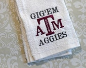 Personalized Texas A&M Aggie Spirit Towel #2 ST021 // Aggie