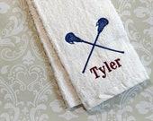 Personalized Lacrosse Towel 2 ST023 // Lacrosse Gifts //