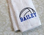 Personalized Volleyball Towel #2  VBST02  // Volleyball Gifts // Volleyball Coach Gift //