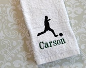 Personalized Soccer Player Towel ST060 // Soccer Coach Gifts // Soccer Gifts
