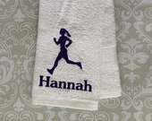 Personalized Runner Towel #2 STR02 //Running // Running Gifts // Runner Gifts for Women // Runner Gifts for Men // Personalized