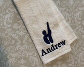 Personalized Male Diver Towel  ST065 // Swimmer Gift // Swimming // Team Gift //
