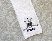 Personalized Hockey Goalie Towel ST012 // Hockey Gifts // Hockey Goalie Gifts