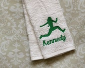 Personalized Triple Jump (Female) Towel ST0099 // track and field gift // coach gift // Jump // Jumper