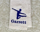 Personalized Male Dance Towel  STMD01  //Dance Gifts // Dance Teacher Gifts // Dancer // Male Dancer //