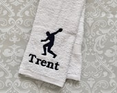 Personalized Discus Throw Towel ST0092 // track and field gift // track and field coach gift