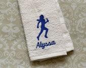 Personalized Relay Runner (Female) Towel ST00101 // track and field gift // track and field coach gift // relay // runner