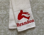 Personalized Long Jump Towel ST0094 // track and field gift // track and field coach gift