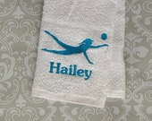 Personalized Female Beach Volleyball Towel   BVBST01  // Volleyball Gifts // Volleyball Coach Gift // Beach