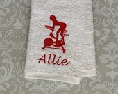 Personalized Indoor Cycling Towel STIC1 // Cycling Towel // Indoor Cycling // Cycling Gifts // Bike Gift // Trainer Gift // Gym Gift