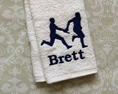 Personalized Relay Towel - Male ST00100 // track and field gift // track and field coach gift // relay // runner