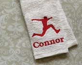Personalized Triple Jumper (Male) Towel ST0098 // track and field gift // coach gift // Jumper // Jump