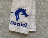 Personalized High Jump Towel ST0095 // track and field gift // track and field coach gift