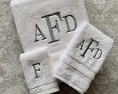 Personalized Century Bath Towel Set  BTS002CE // Monogrammed // Graduation Gift // Wedding Gift // College // Housewarming