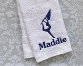 Personalized Flag Corps Towel  STFC1 // Flag Corps Gift // Coach Gift // Color Guard Gift//Color Guard // Spirit
