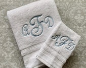Personalized Script Bath and Hand Towel Set  BTS003SC // Graduation Gift // Wedding Gift // College