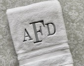 Personalized  Bath Towel Century BT002CE // Monogrammed // Graduation Gift // Wedding Gift // College