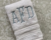 Personalized Serif Hand Towel HT002SF// Monogrammed // Graduation // Wedding // Gift // College