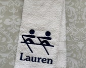 Personalized Rowing Towel - Double  ST091 // Rower Gift // Rowing // Crew // Team Gift//Rowing Gift // Crew