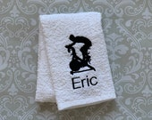 Personalized Male Bike Towel STSP1 // Indoor Cycling // Cycling Gifts // Bike Gift // Trainer Gift // Gym Gift