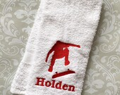 Personalized Skateboard Towel STDB01 //Boarder Gifts // Skateboard Gift  // Teen Gifts // Father's Day //