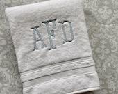 Personalized Serif Bath Towel BT002SF // Monogrammed // Graduation Gift // Wedding Gift // College // Housewarming
