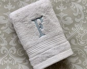 Personalized Serif Wash Cloth WC002SF // Graduation Gift // Monogrammed // Wedding Gift // College
