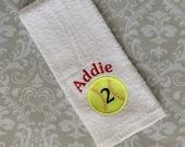 Personalized Softball Towel ST015 // Softball Gifts // Team Gift //