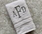 Personalized Hand Towel Century HT002CE // Monogrammed // Graduation // Wedding // Wedding Gift // College