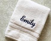Personalized Script Bath Towel Name  BTSC01 // Monogrammed // Graduation Gift // Wedding Gift // College