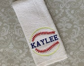 Personalized Softball Team Towel #5 STSB5 // Softball Gifts // Team Gift // Personalized // Softball Mom // Softball Coach