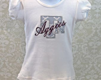 Texas A&M Girls Shirt AGGRLSHIRT17A