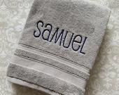 Personalized First Name Bath Towel - Lowercase BTNLC001 // Graduation Gift // Wedding Gift // College // Housewarming // Birthday