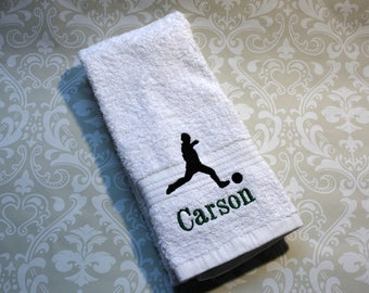 Personalized Soccer Player Sport Towel ST060